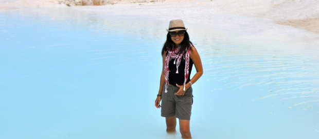A dip in one of the Pamukkale pools