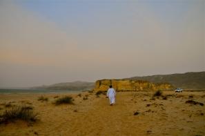 Morning view of the beach at Ras Al Jinz Resort
