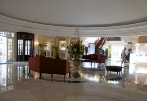 The dazzling lobby of Eastern & Oriental (E&O) Hotel, Georgetown Penang